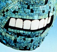 Pic 2: The teeth in one of the British Museum's Aztec turquoise mosaic masks