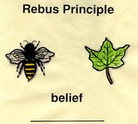 Pic 3: 'Bee' + 'Leaf' = Belief! (Graphic by Debs Tyler)