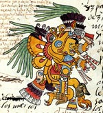 Pic 13: Itzapapálotl - 'The Obsidian Butterfly' - in the Codex Telleriano-Remensis