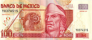 Pic2: Netzahualcóyotl on the front of a modern 100 Peso note