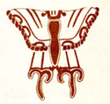 Pic 6: Stylized butterfly image, Teotihuacan