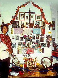Pic 10: Graciela's ofrenda, Education Room, Museum of Mankind, London, 1991-1993