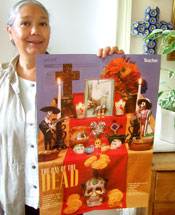 Pic 12: Graciela with Teacher magazine poster, October 2005