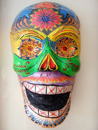 Skeleton mask by the Linares family