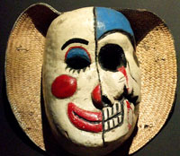 Pic 3: Duality - in the form of life and death - has been a common feature of Mexican masks for centuries