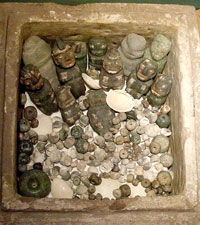 Pic 4: Grave goods found inside a stone casket, Templo Mayor Museum