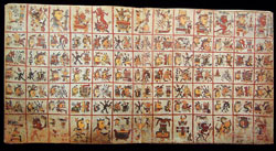 Pic 6: One of the double-page sections of the sacred calendar, Codex Cospi