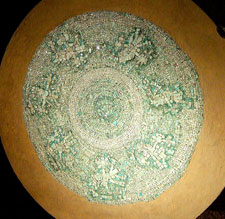 Pic 4: Turquoise mosaic disc, Templo Mayor Museum