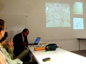 Pic 2: Dr. Leonardo López Luján, Clore Education Centre, British Museum 14/7/07