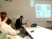 Pic 11: Dr. López Luján explains the Ahuítzotl connection...
