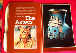 Pages from the 1980 special NGM issue on the Aztecs