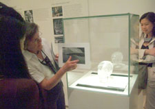 Margaret Sax presents the results of scientific tests on the skull in the British Museum