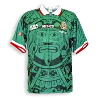 Mexico's 1998 World Cup shirt design based on the Calendar Stone
