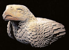 (Pic 7) Quauhxicalli in shape of an eagle, Museo del Templo Mayor, Mexico City.