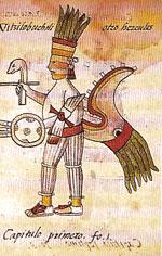 (Pic 12) Huitzilopochtli in the Florentine Codex