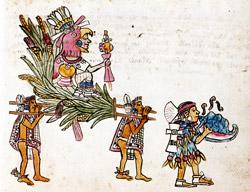 Aztec conch player, Codex Magliabecchiano