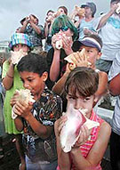 The 47th annual conch blowing contest, Key West, Florida
