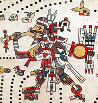 Pic 2: Tezcatlipoca in the Codex Féjérvary-Mayer