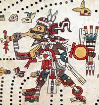 Pic 2: Tezcatlipoca in the Codex Féjérvary-Mayer