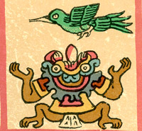 Pic 3: Tlalteotl portrayed in the Codex Borbonicus
