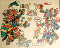 Pic 5: Tezcatlipoca as a jaguar or ocelot in the Codex Borbonicus
