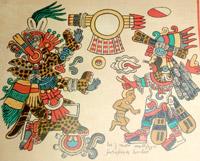 Pic 5: Tezcatlipoca as a jaguar or ocelot in the Codex Borbonicus