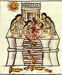 Pic 11: Toxcatl sacrifice scene, Florentine Codex (Book 1)