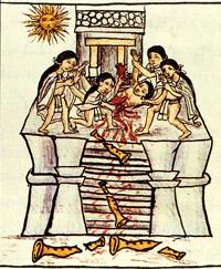 Pic 11: Toxcatl sacrifice scene, Florentine Codex (Book 1)