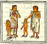 Pic 12: A family of slaves, Florentine Codex