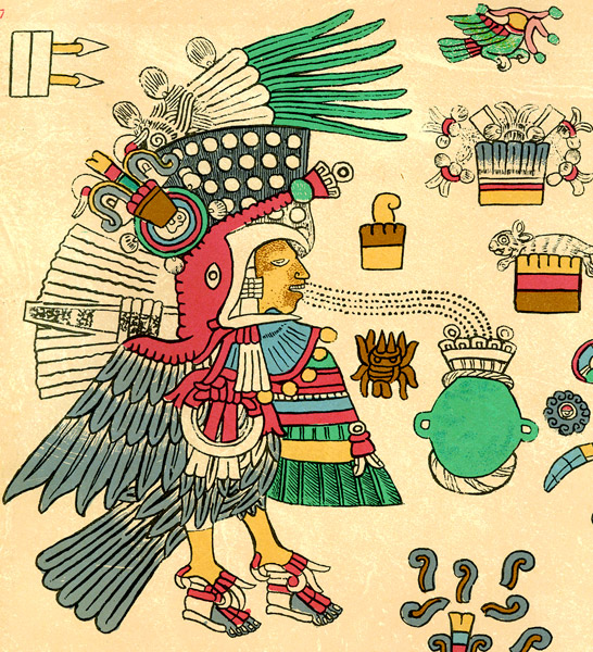 Aztec Emperor in the Guise of a Turkey