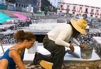 Pic 3: Excavation work near the Templo Mayor, mid-2005