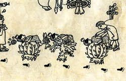 Pic 11: Sacrificing the 'mimixcoah', Codex Boturini, p.4