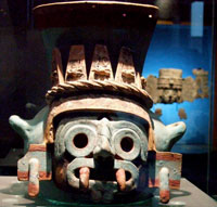Pic 2: Tlaloc pot, Templo Mayor Museum