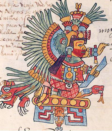 Pic 3  Xochiquetzal in the Codex Telleriano-Remensis  Click on image    Xochiquetzal Aztec God
