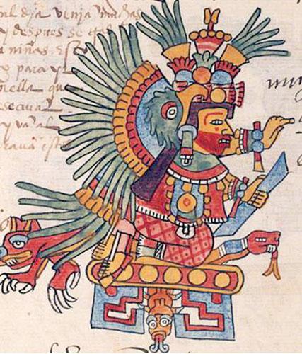 Pic 3  Xochiquetzal in the Codex Telleriano-Remensis  Click on image    Xochiquetzal Aztec God