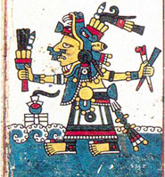 Pic 11: Chalchiuhtlicue in the Codex Tonalamatl of the Pochtecs (Féjervary-Meyer).