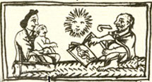 Pic 2: Mother, child and soothsayer, Florentine Codex, Chapter VI