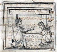 Pic 11: Father advising his son, Florentine Codex, Book VI, Chapter 20