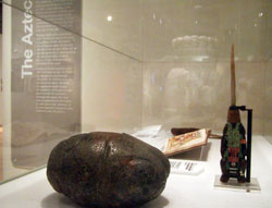 Aztec objects on display in 'The Heart'