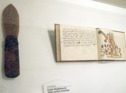 Aztec sacrificial knife and a famous image from the Codex Magliabecchano