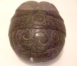 Greenstone 'Heart of Copil', National Museum of Anthropology, Mexico City