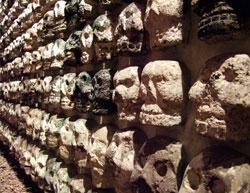 Pic 3: stone skullrack, Templo Mayor Museum, Mexico City