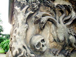 Pic 4: part of the (replica) Tradescant family tomb, Museum of Garden History, London