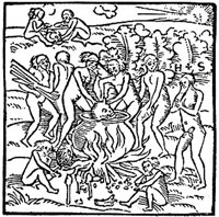 Pic 6: 'Tupinamba portrayed in cannibalistic feast' in woodcut by Hans Staden (original 1557)