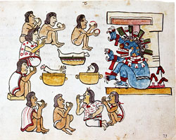 Pic 8: the classic image of Aztec cannibalism, Codex Magliabecchiano (note this is a POST-conquest manuscript)