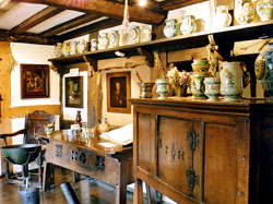 Pic 10: interior of John Hall's consulting room, Halls Croft, Stratford-upon-Avon