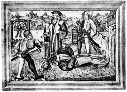 Pic 14: beheading of a criminal, Europe, 16th century