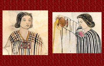 Pic 2: Two Nahua (Aztec) women, Codex Tudela, folios 1 & 2