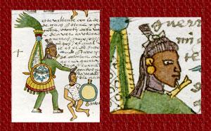 Pic 6: Otomí warrior, Codex Mendoza, folio 64r