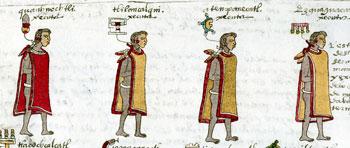 Pic 9: The lord's executors, Codex Mendoza, folio 65r